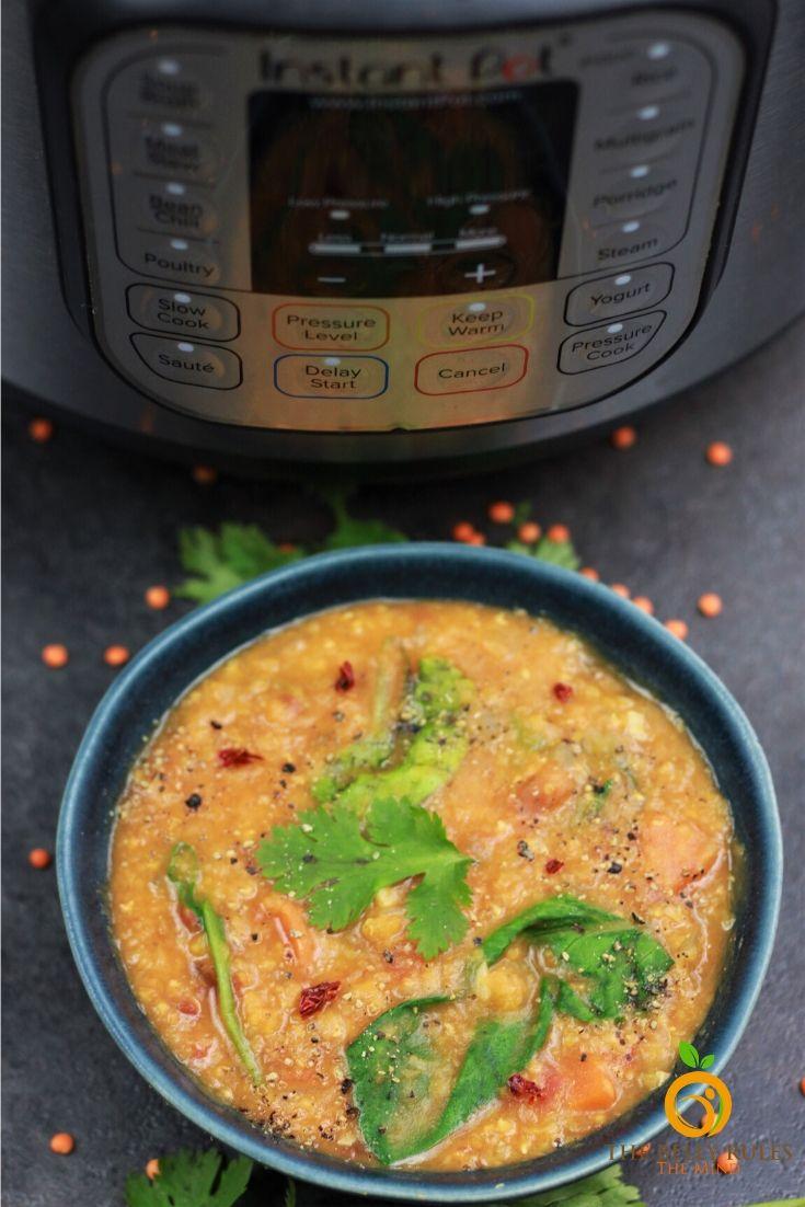 instant pot red lentil soup recipe