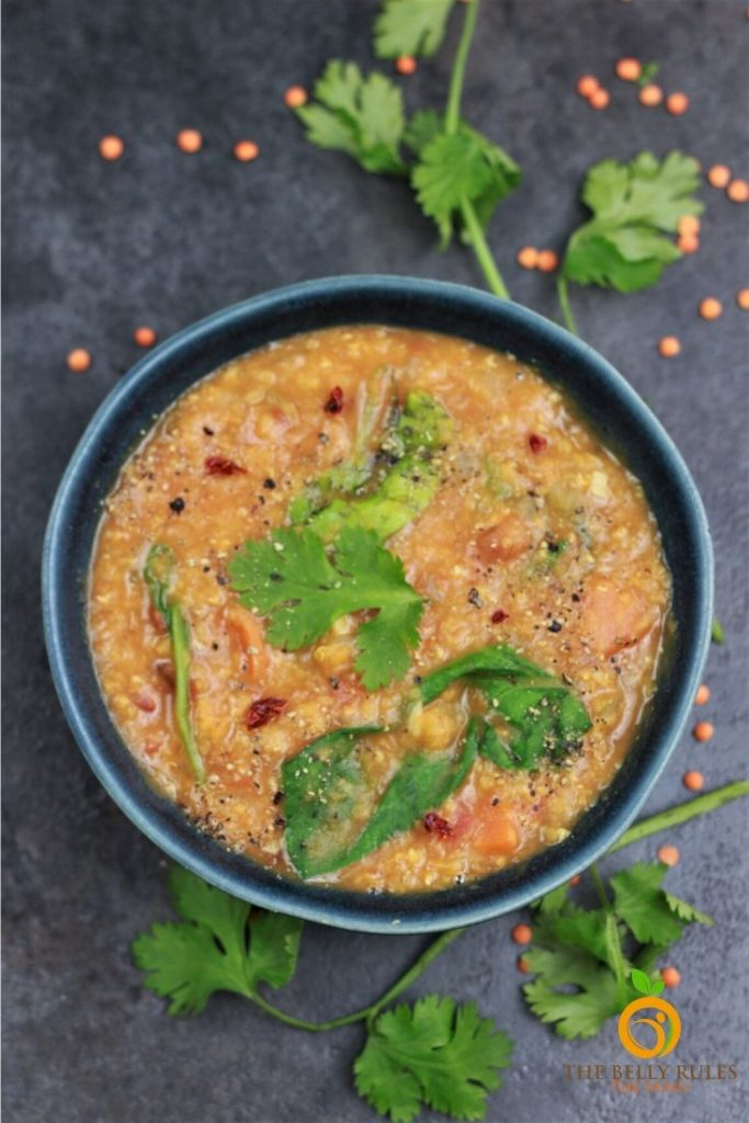 easy red lentil soup with lemon recipe