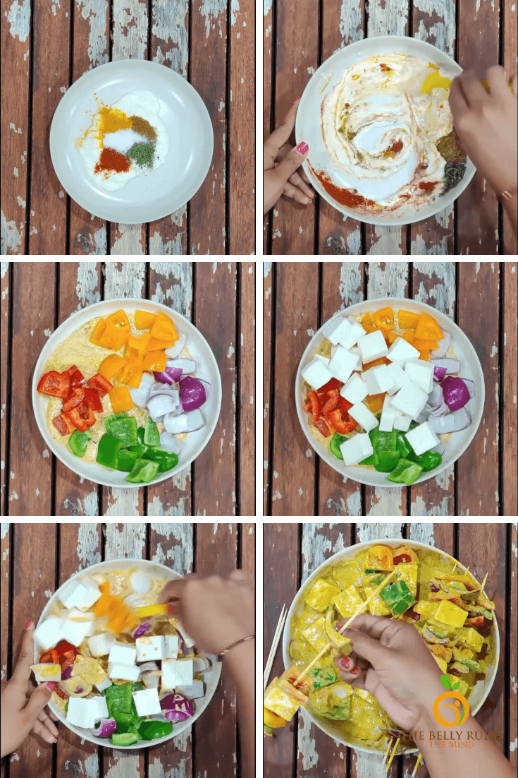 paneer tikka step by step