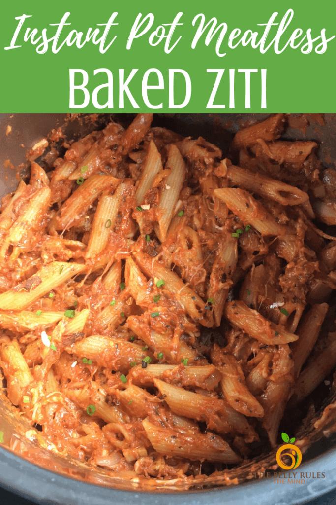 meatless instant pot baked ziti recipe