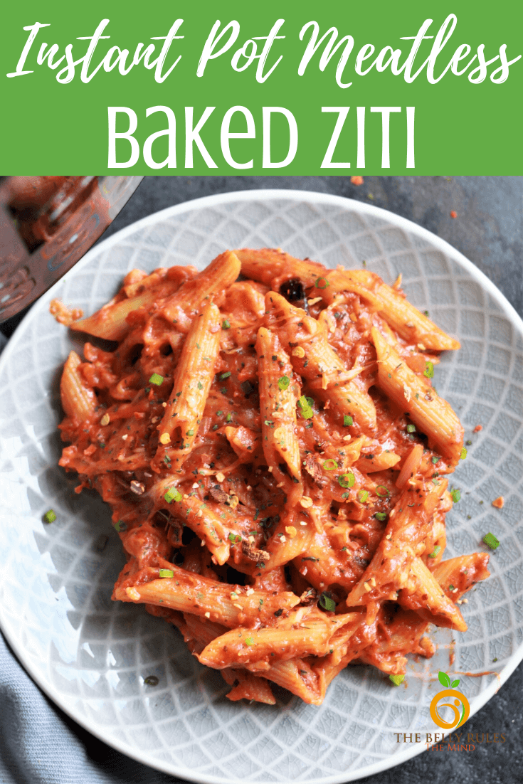 Vegetarian Instant Pot Baked Ziti - A quick & delicious pasta dish 'baked' in an Instant Pot. Ready in just 20 minutes. Makes a perfect weeknight meal minus all the precooking and layering. Instant Pot video recipe + Stove Top recipe.