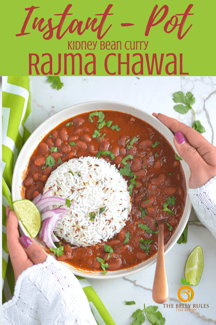 Instant pot rajma chawal - Red kidney beans and Rice