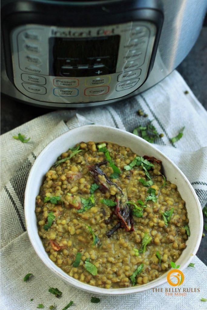 instant pot green moong dal recipe