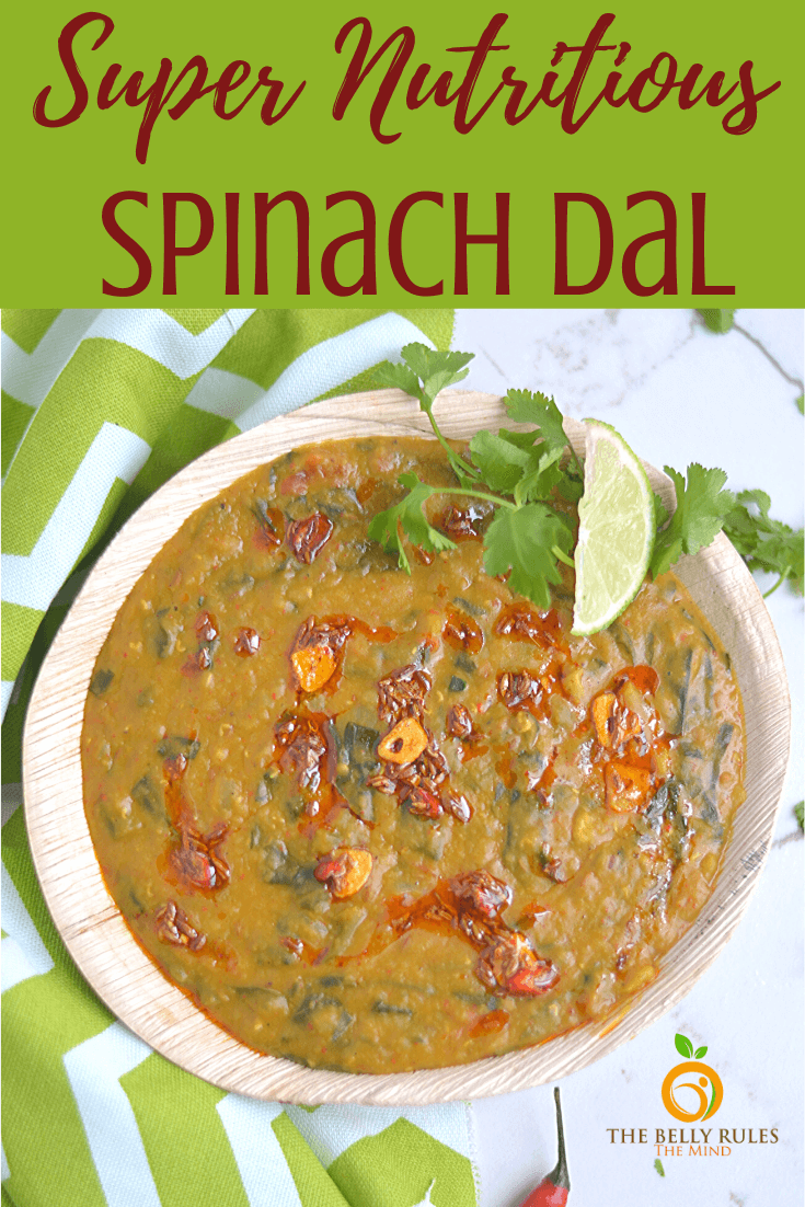 Instant Pot Dal Palak / Spinach Dal Recipe