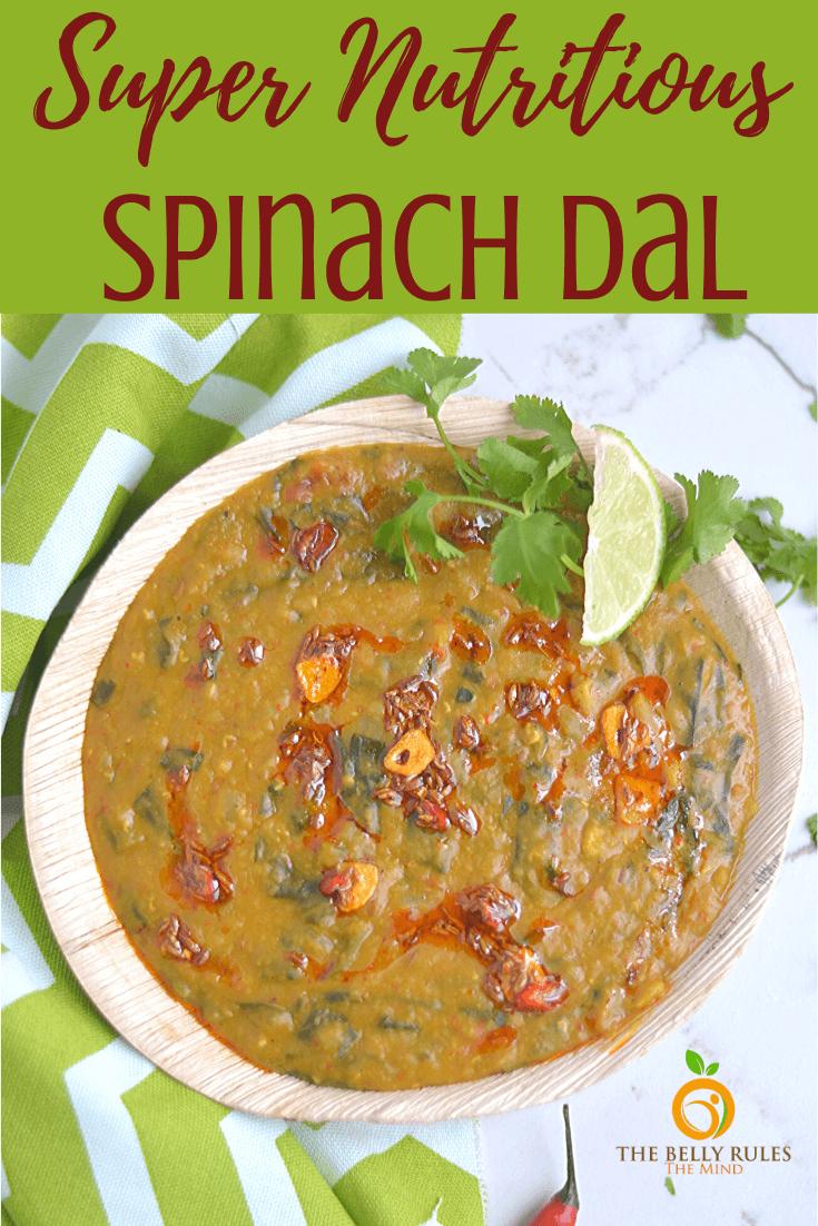 Instant Pot Dal Palak / Spinach Dal Recipe