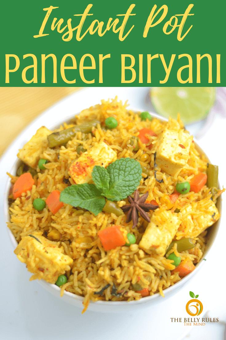 Instant Pot Paneer Biryani / Paneer Pulao