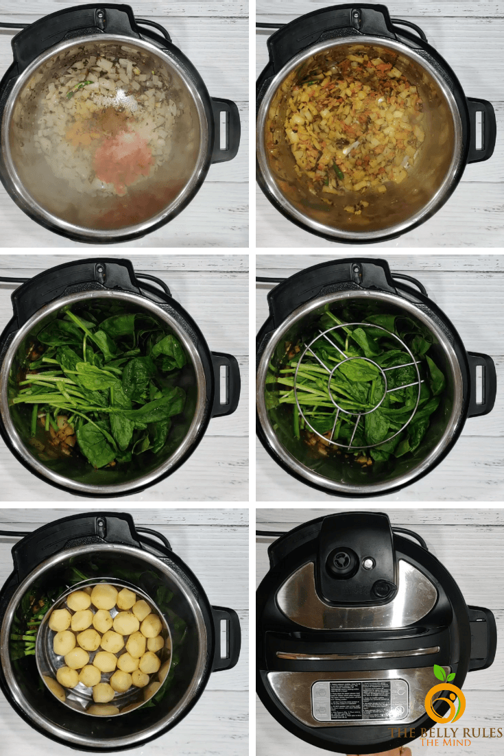How to make Saag Aloo in the Instant Pot: A Step By Step Recipe