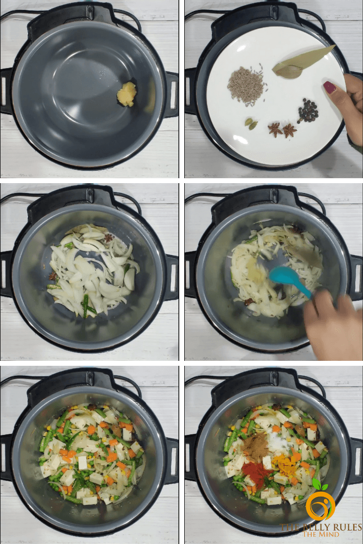 step by step panner biryani