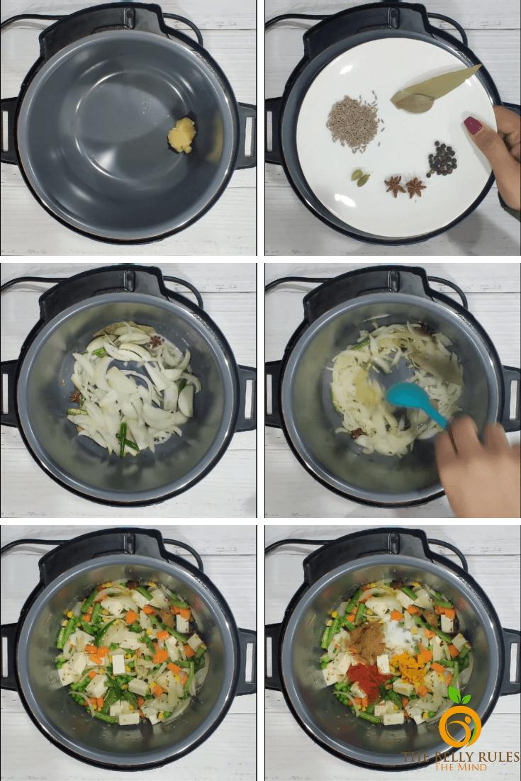 step by step panner biryani