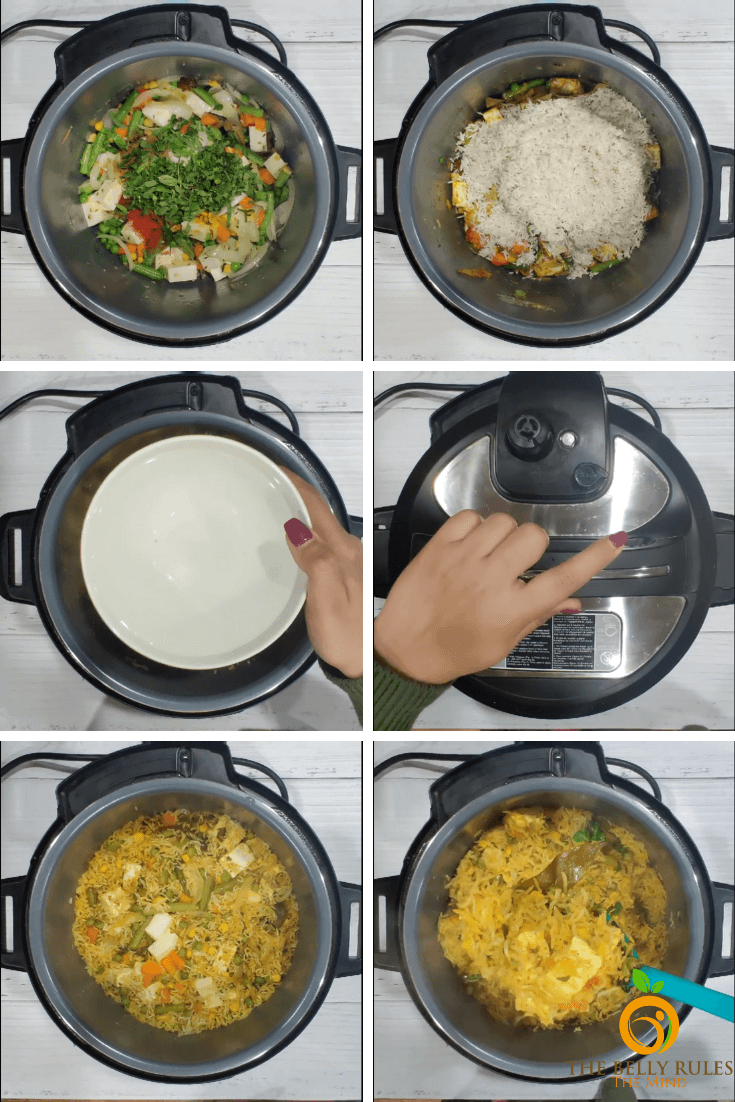 step by step paneer biryani