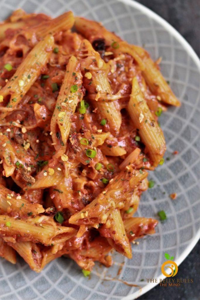 Vegetarian baked ziti in instant pot