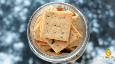 Vegan Mathri Wheat Crackers