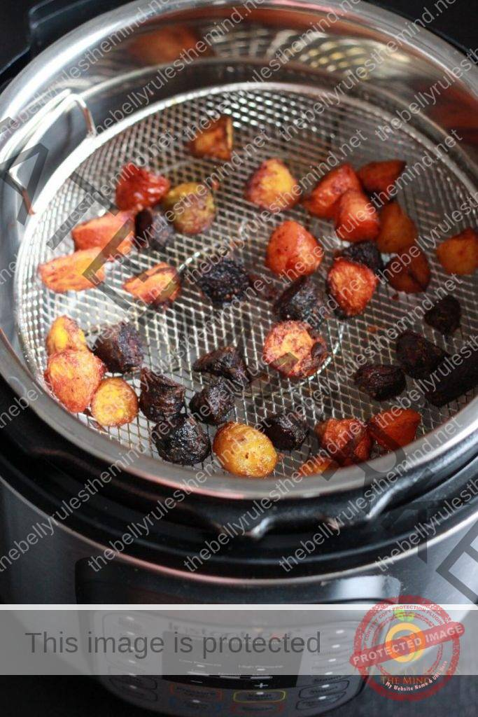 instant pot air fryer carrots using crisp lid or crisper