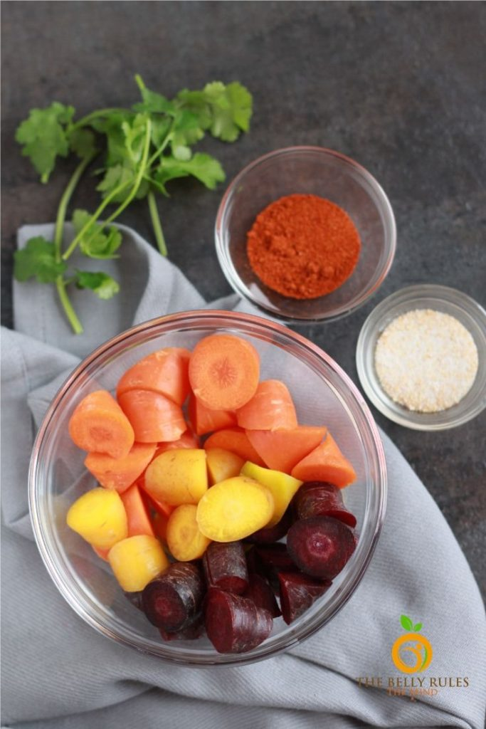ingredients for air fryer carrots recipe