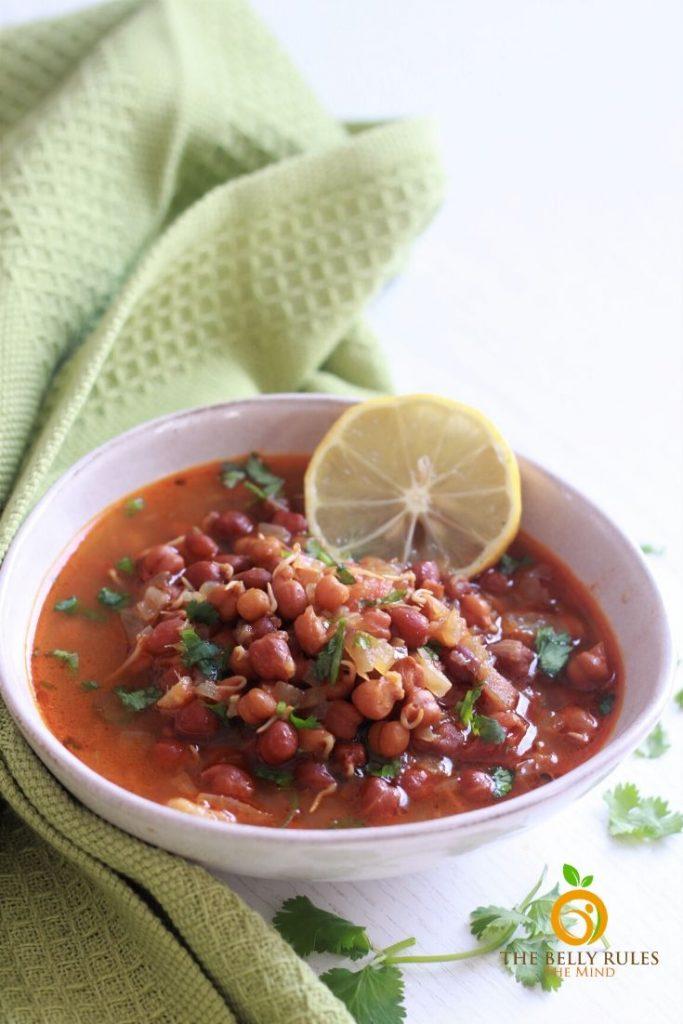 instant pot black chana curry recipe