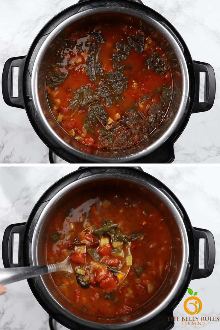 step by step instant pot minestrone soup