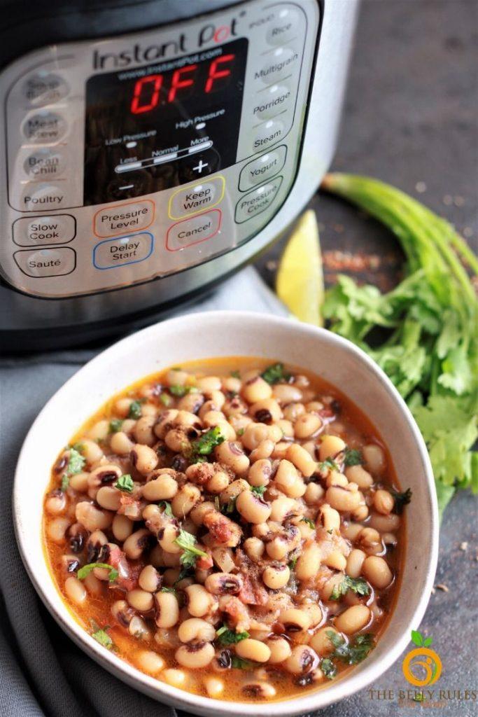 instant pot black eyed peas recipe