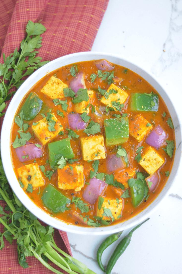Instant pot Kadai paneer / karahi paneer