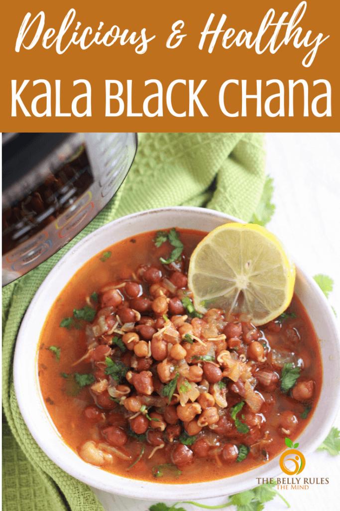 instant pot kala chana black chana masala recipe