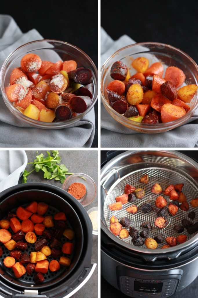step by step instructions to make air fryer carrots