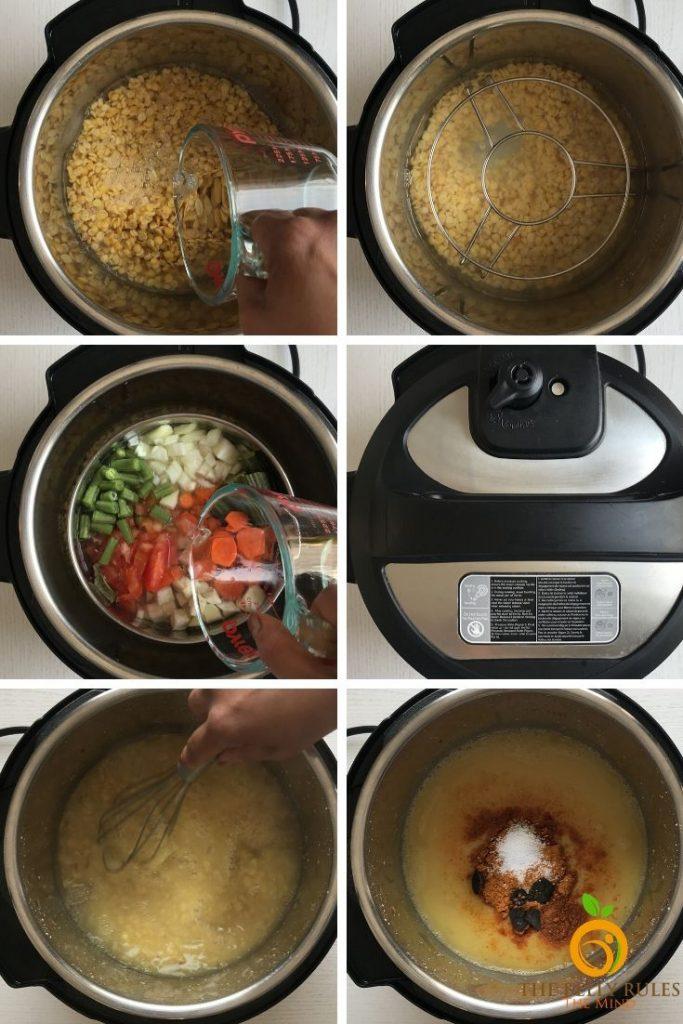 instant pot sambar recipe step instructions
