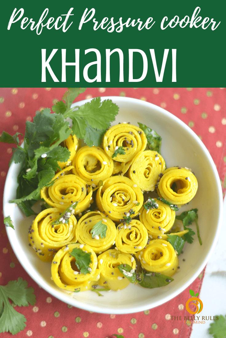 Easy Instant pot Gujarati Khandvi Recipe