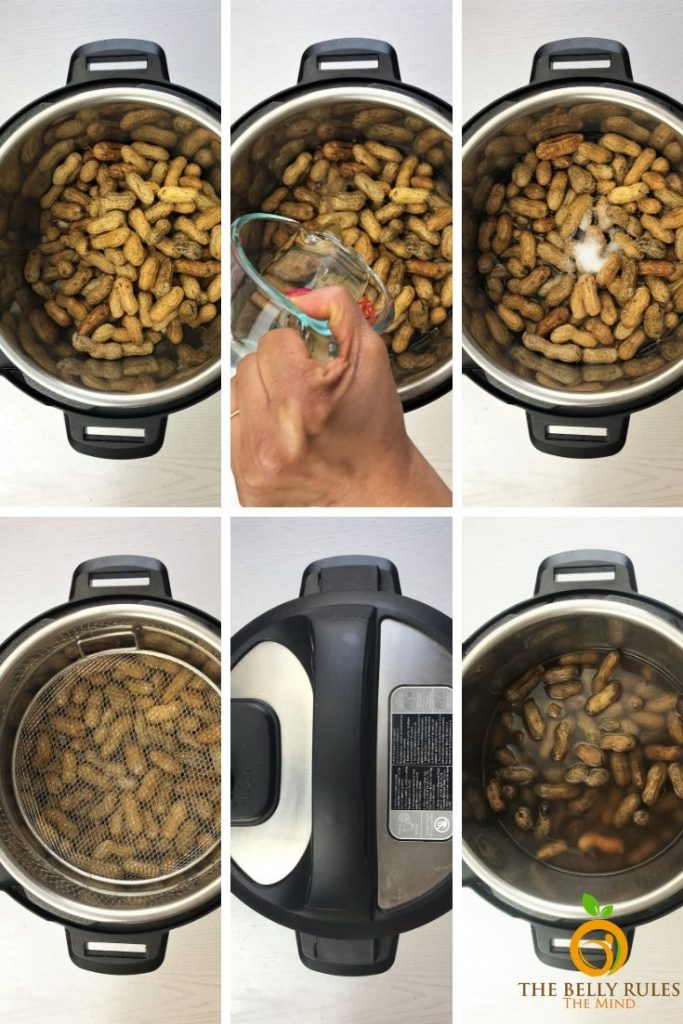 instant pot boiled peanuts step by step instructions