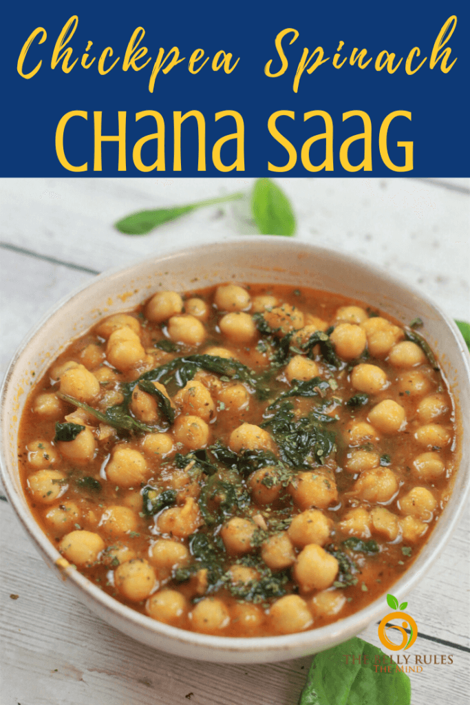chana saag chickpea spinach
