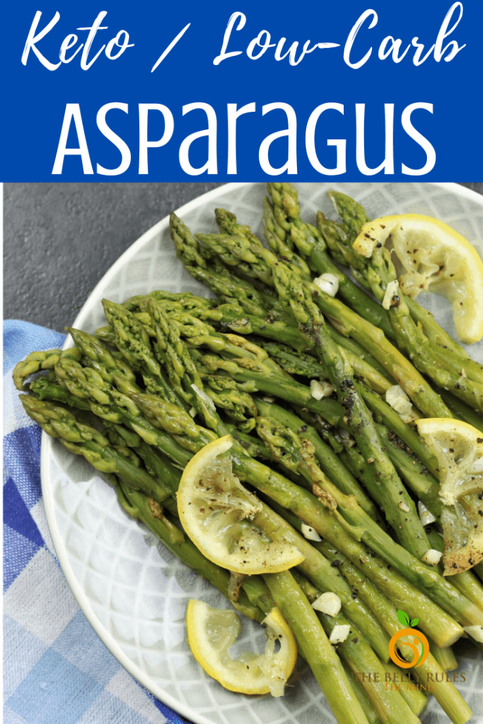 instant pot asparagus on a plate