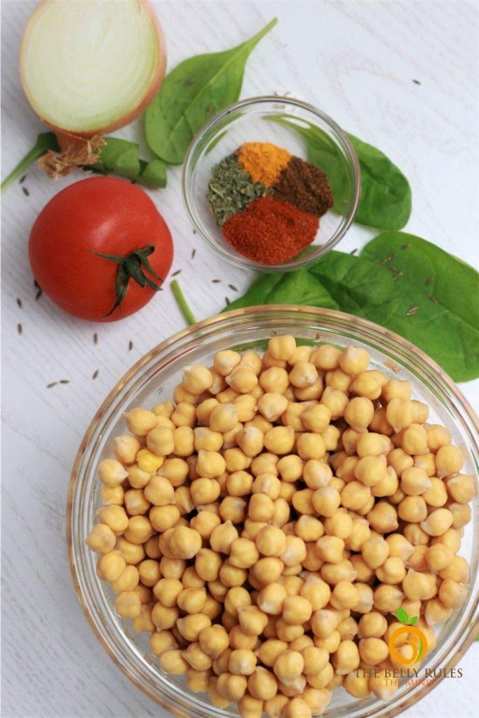 Chana Saag Recipe Ingredients