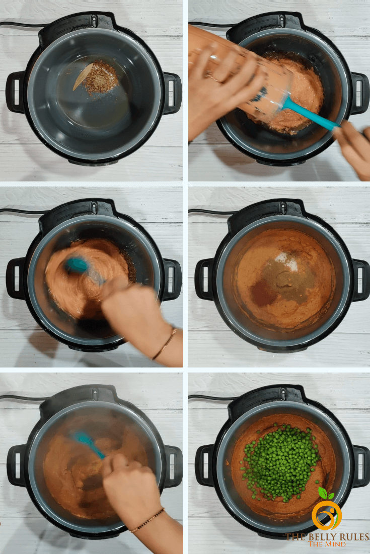 instant-pot-Matar-paneer-step-by-step