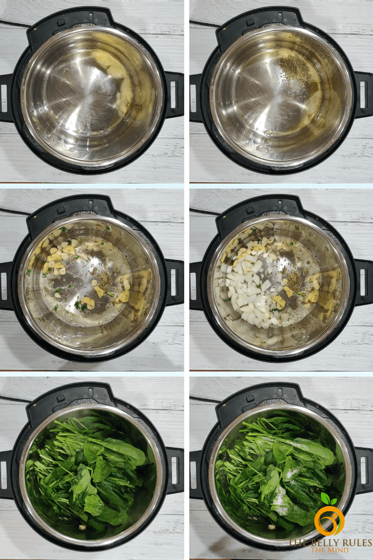 instant pot Palak paneer step by step