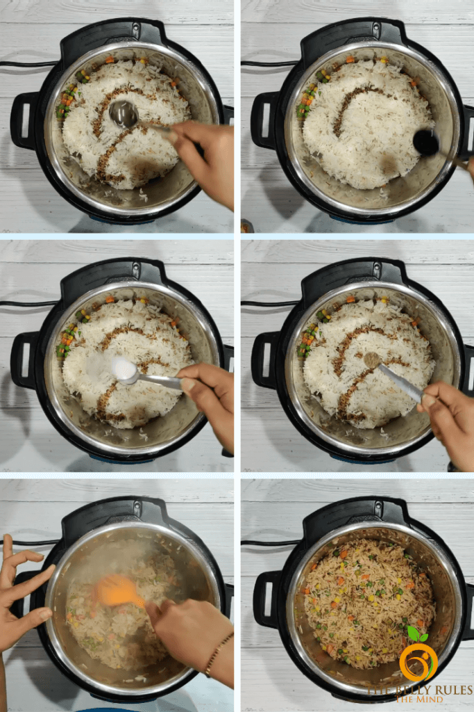 instant pot fried rice step by step