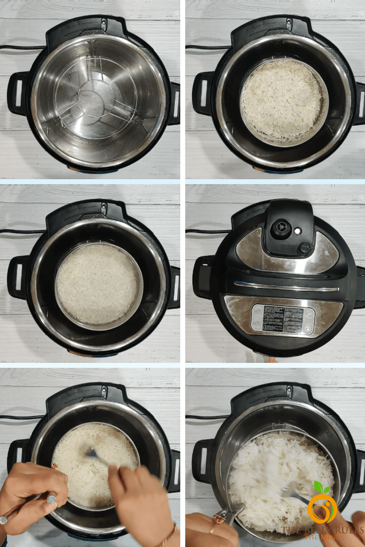 instant pot rice step by step