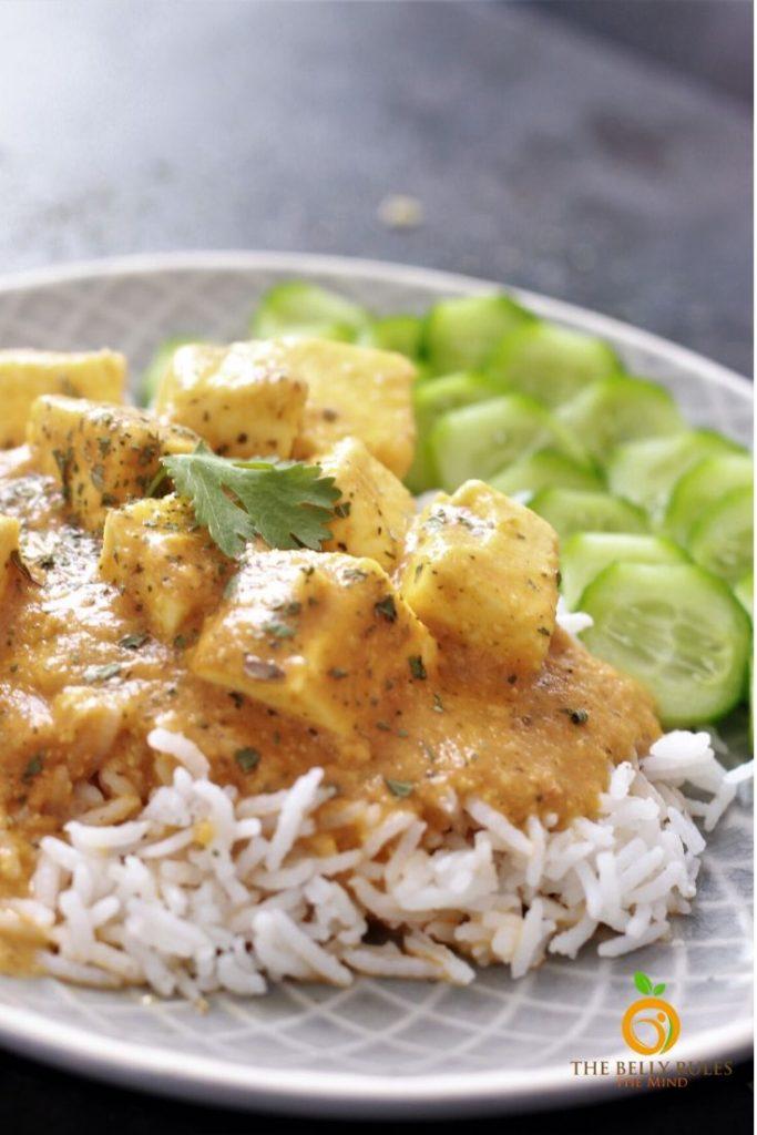 shahi paneer with jeera rice