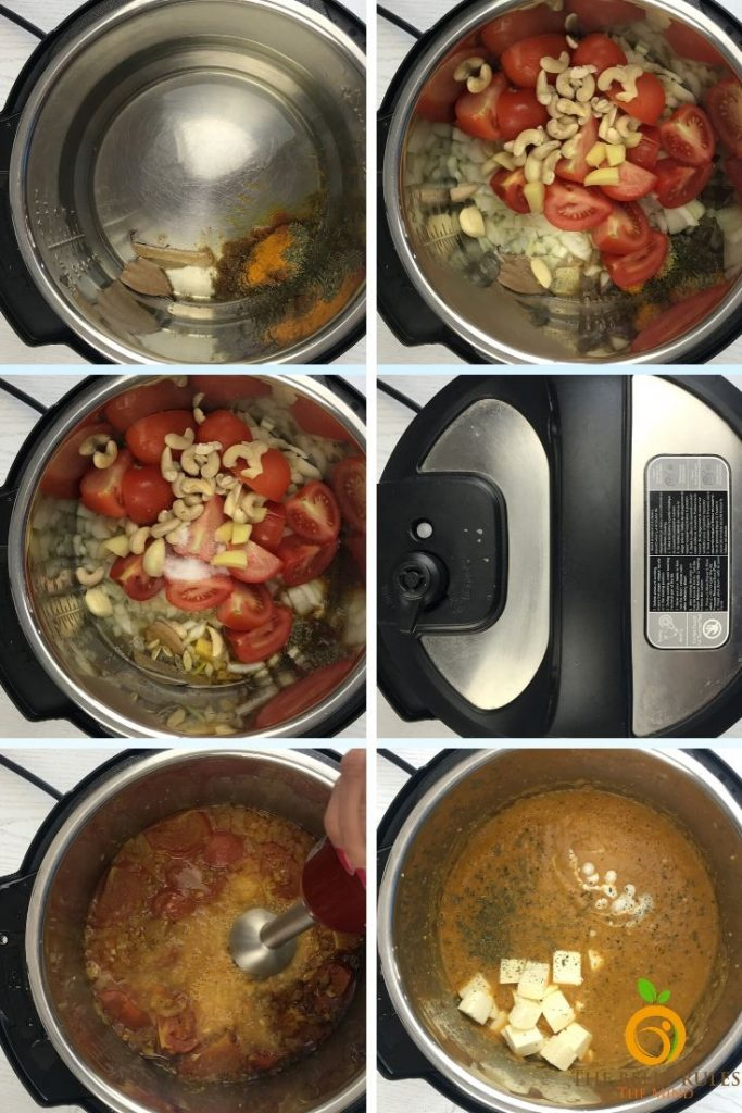 step by step instructions to make shahi paneer