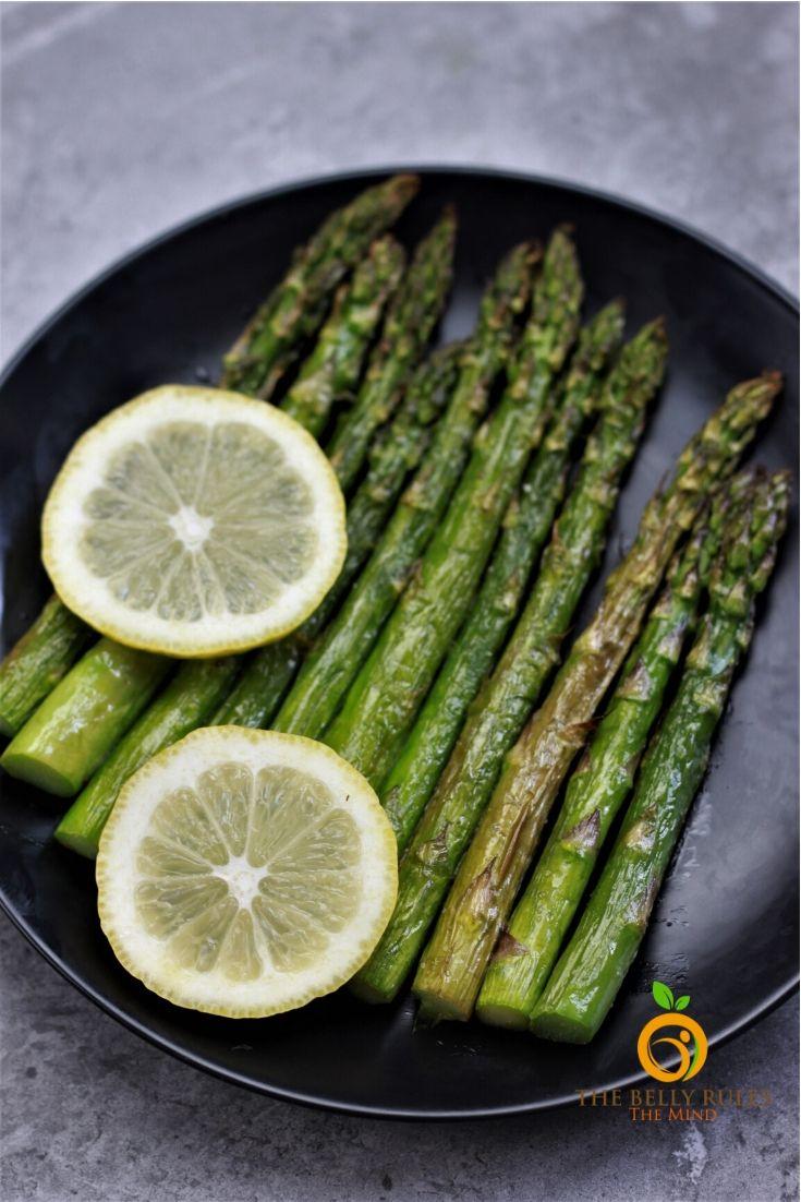 Air Fryer Asparagus on a plate