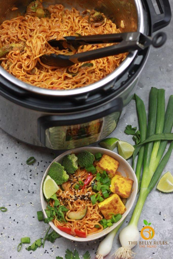 vegan ramen noodle in instant pot