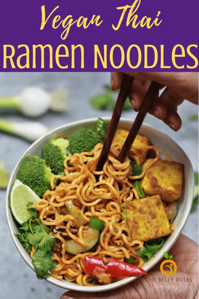 Instant Pot Thai Vegan Ramen Noodles Recipe
