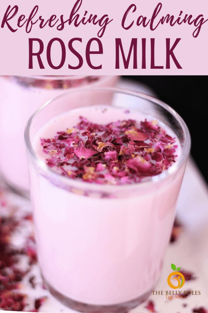 rose milk recipe from homamde rose syrup