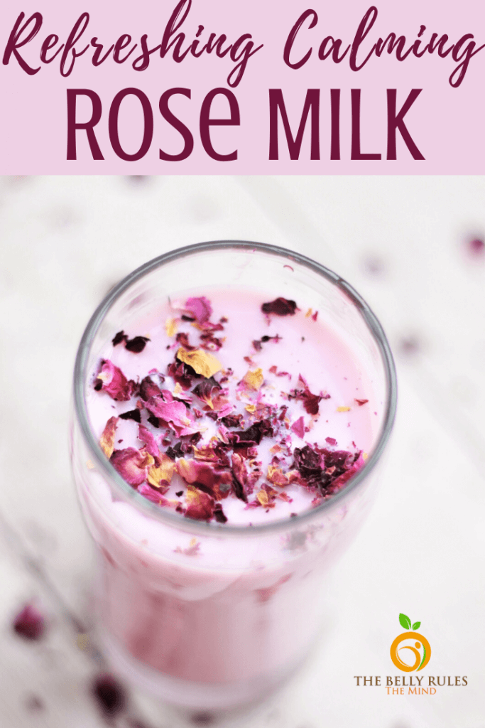 rose milk from homemade rose syrup