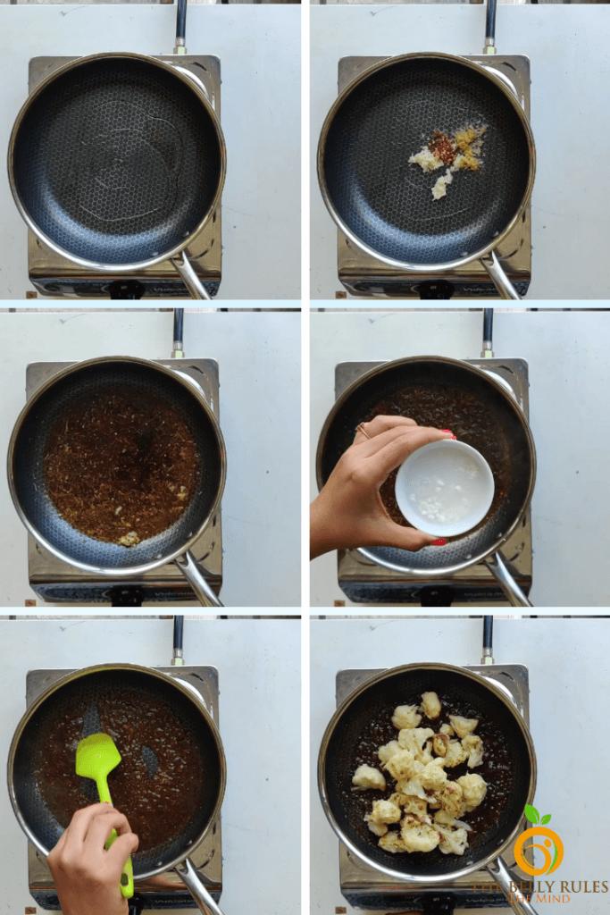 orange cauliflower step by step