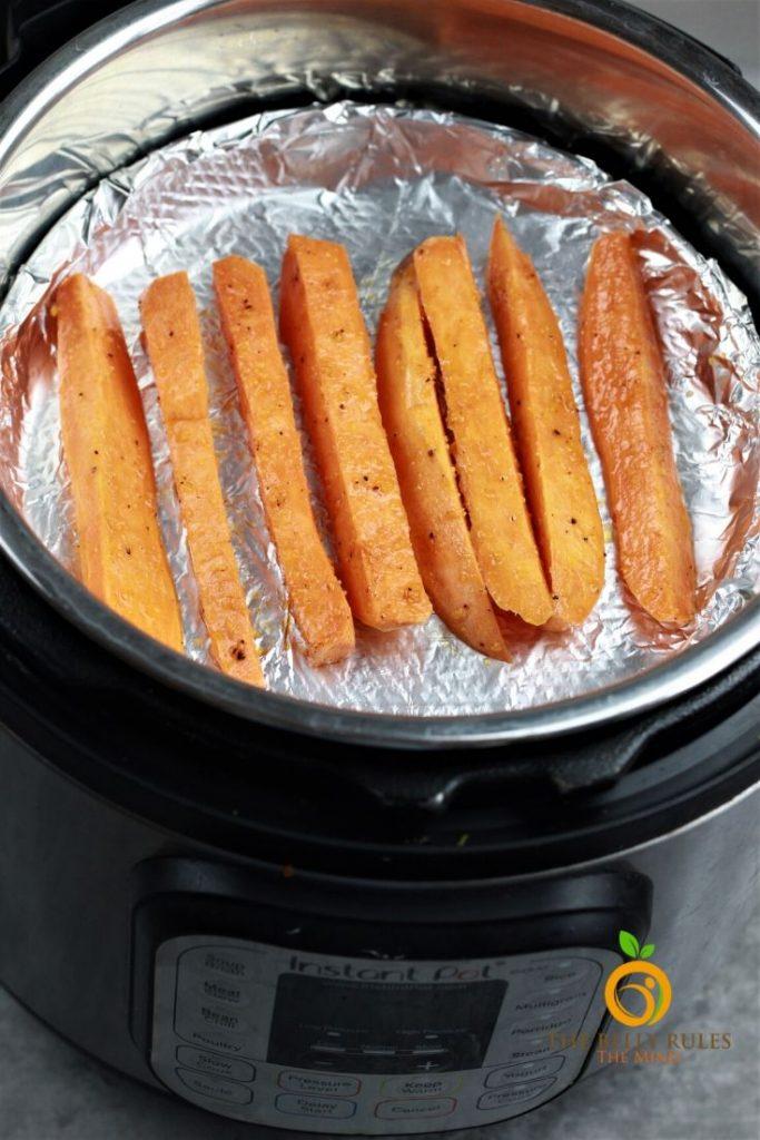 Mealthy Air Fryer Crisp Lid Sweet Pottao Fries recipe