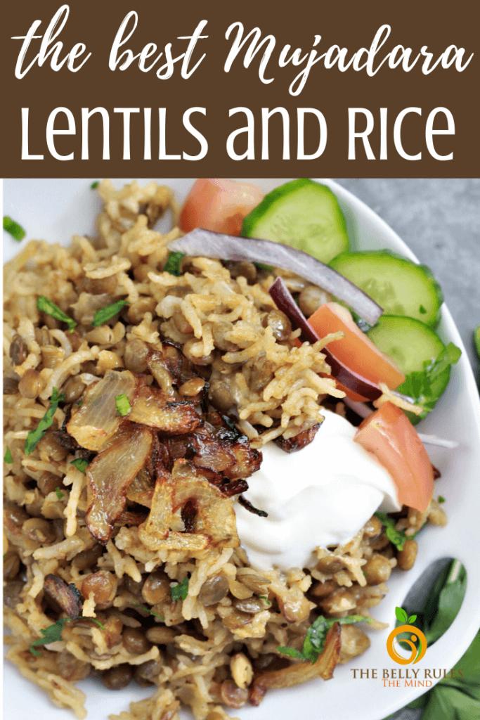 Mujadara Lentils and Rice Recipe