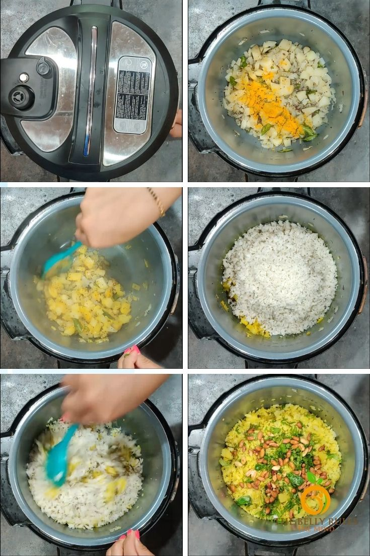 step by step Kanda poha recipe