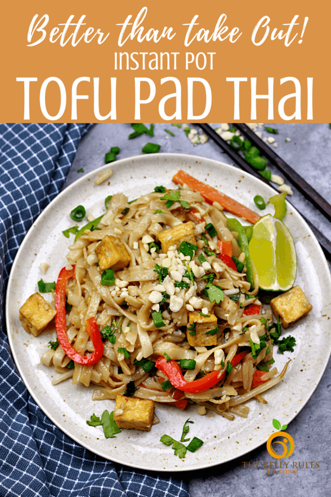 instant pot vegan tofu pad thai recipe