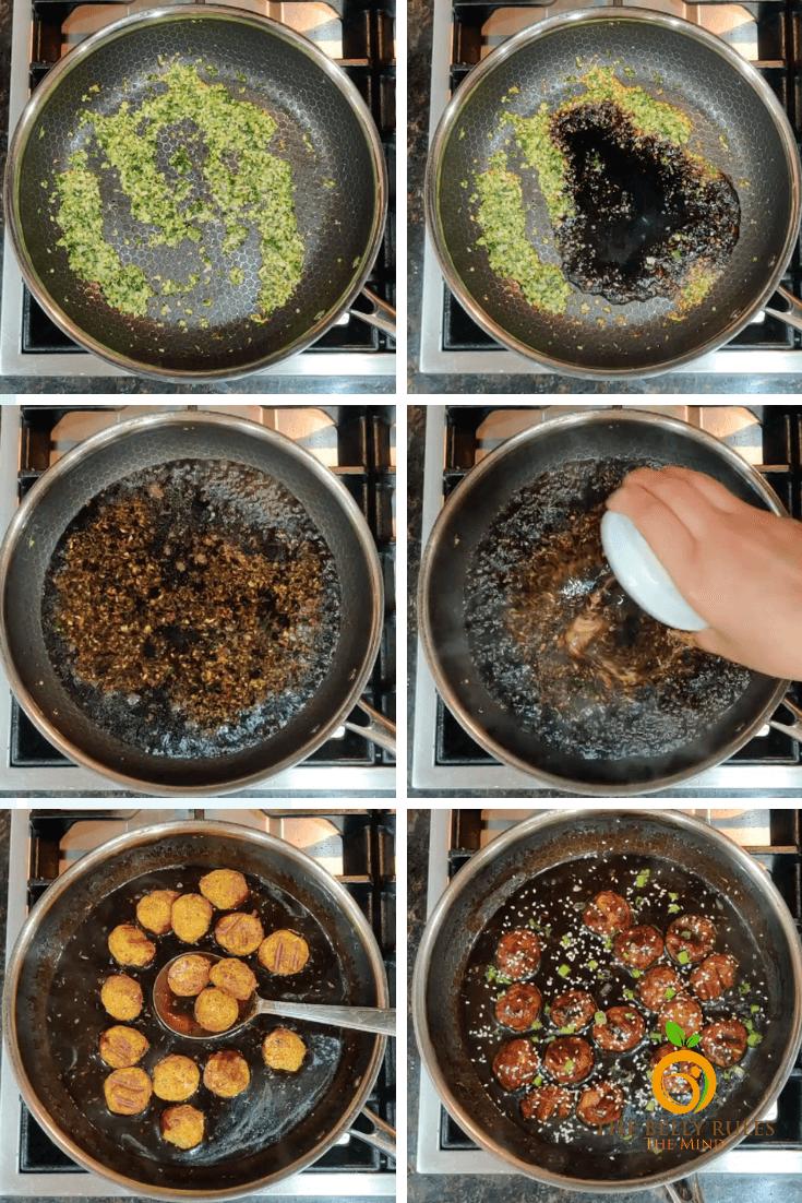 No Fry Veg Manchurian step by syep Recipe