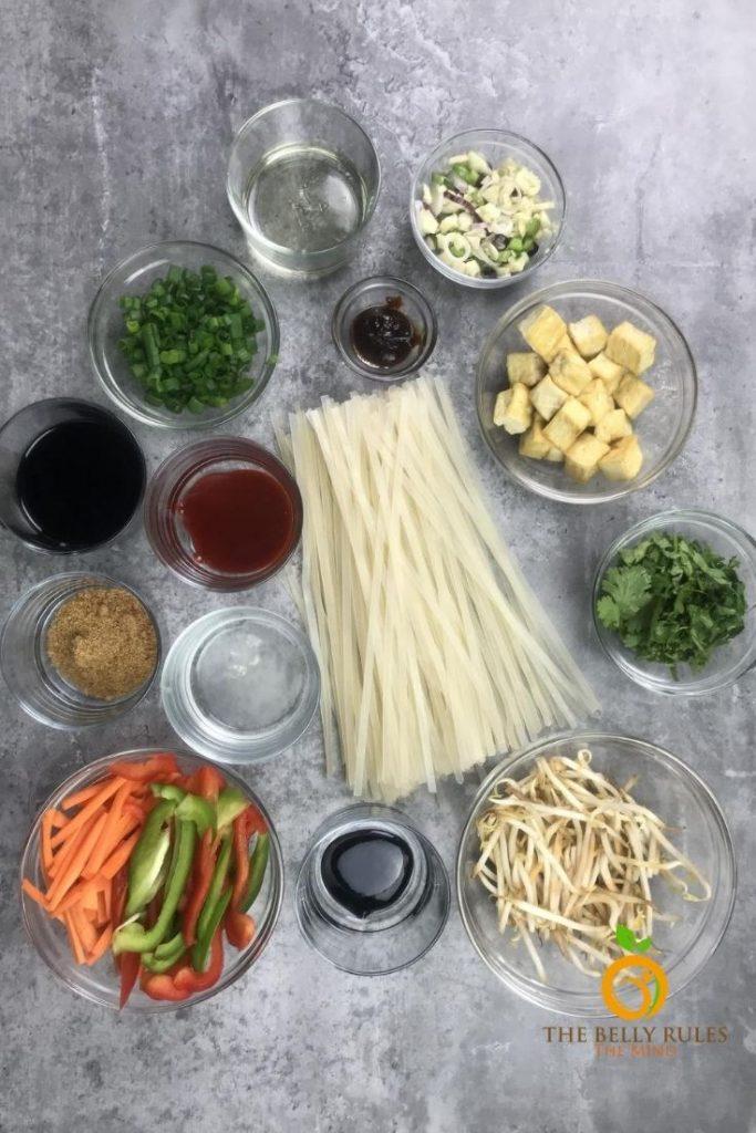 vegan pad thai noodles ingredients