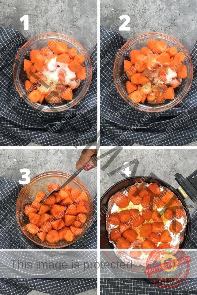 air fryer carrots step by step instructions
