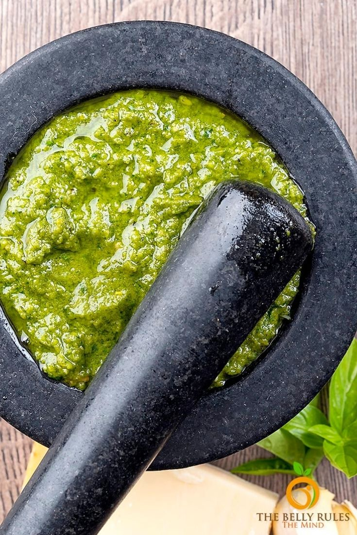 Homemade Pesto Sauce Video Recipe Thebellyrulesthemind